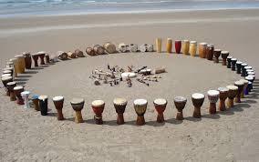 circle on the beach